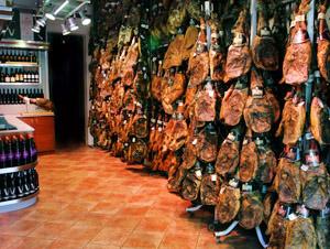 boutique jambon espagnol a Barcelone