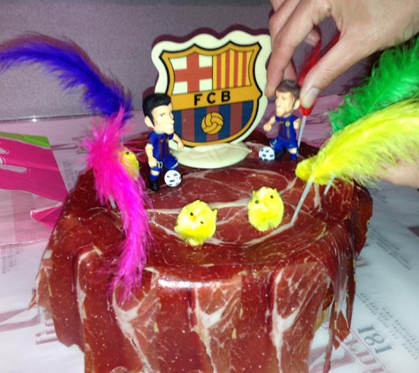 Ricetta: Pata negra prosciutto torta di compleanno