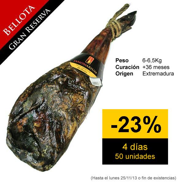 A soli quattro giorni: Grande sconto sul bellota pata negra spalla di prosciutto «Gran Reserva 2010», LA MIGLIORE spalla
