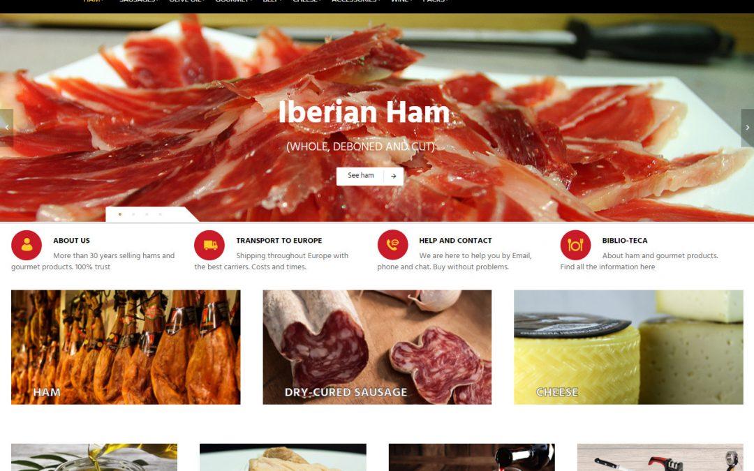 Miglioriamo il nostro negozio online che vende prosciutti e salsicce iberiche