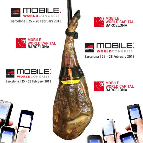 Il Mobile World Congress à Barcellona… meglio con un buon prosciutto Bellota e buon vino!