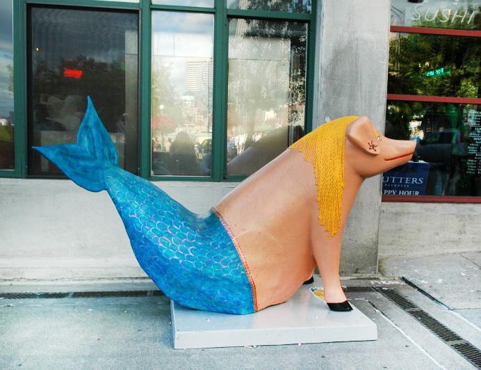 Ecco un porco sirena … pronta per l'estate!
