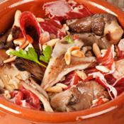 Ricetta: Funghi con prosciutto e pinoli